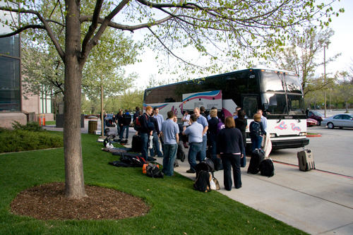 Loading the bus in Provo