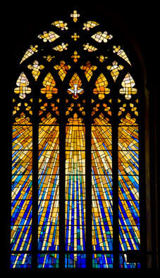 Wonderful window in a modern cathedral