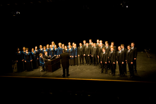Onstage at Draiocht Theatre